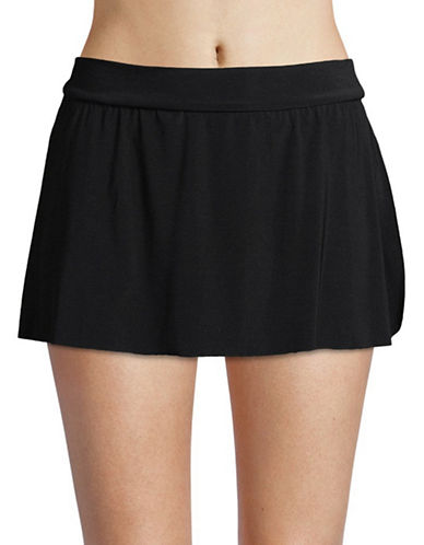 Magic Suit By Miraclesuit Jersey Tennis Skirt-BLACK-12