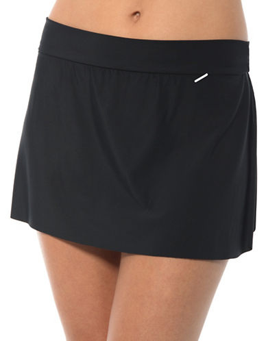 Magic Suit By Miraclesuit Jersey Tennis Skirt Bottoms-BLACK-14