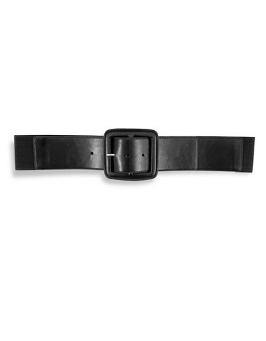 Fashion Focus Square Center Bar Buckled Belt-BLACK-Medium/Large