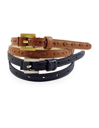 Fashion Focus Two-Piece Belt Set-BLACK-Medium