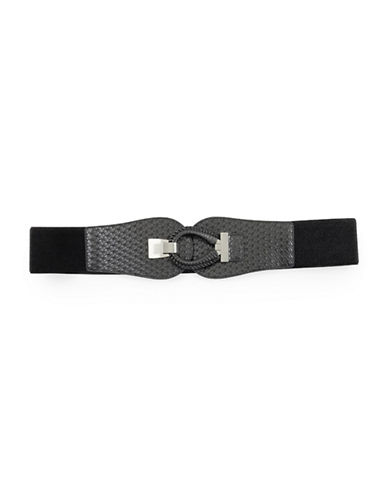 Fashion Focus Wrapped Buckle Belt-BLACK-Large/X-Large