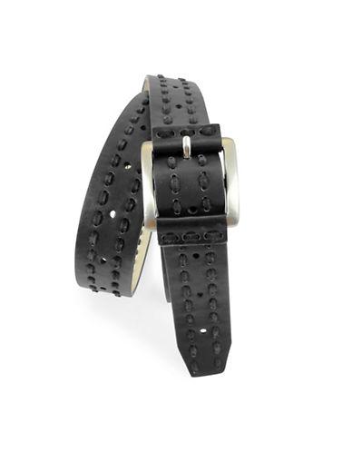 Fashion Focus Double Suede Laced Belt-BLACK-X-Large