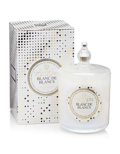 Voluspa Blanc De Blancs Lided Candle-WHITE-One Size