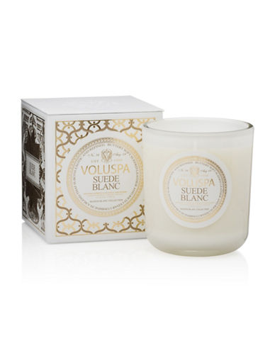 Voluspa Suede Blanc Candle-WHITE-One Size
