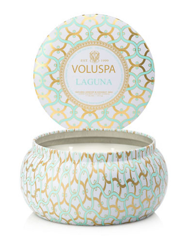Voluspa Laguna Two Wick Tin-WHITE-One Size