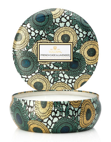 Voluspa French Cade and Lavender Three Wick Tin-BLUE-One Size