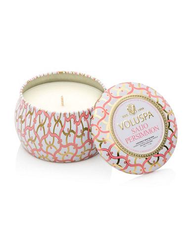 Voluspa Saijo Persimmon Mini Tin Candle-WHITE-One Size