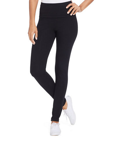Style And Co. Tummy-Control Active Leggings-DEEP BLACK-Large 87725129_DEEP BLACK_Large