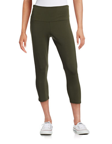 Style And Co. Yoga Capri Leggings-GREEN-X-Large 88374939_GREEN_X-Large