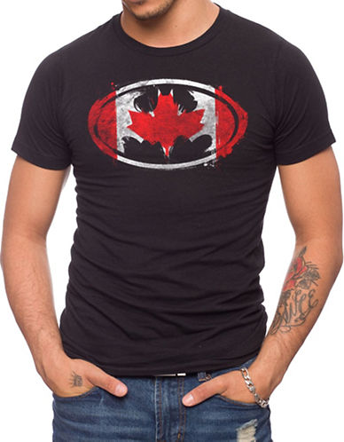 Jack Of All Trades Batman Canadian Flag T-Shirt-BLACK-Small