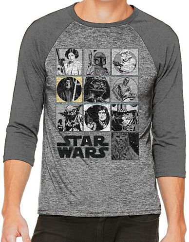 Philcos Star Wars Heathered Tee-GREY-Small