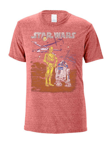 Philcos Star Wars Heathered T-Shirt-RED-Large
