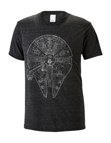Philcos Star Wars Heathered T-Shirt-BLACK-Large