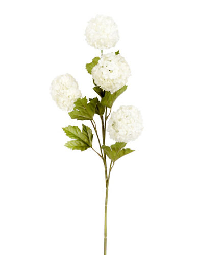 Winward Silks Snowball Faux Hydrangea Stem-WHITE-One Size