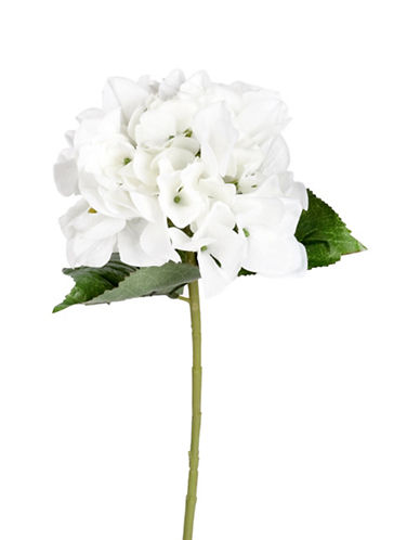 Winward Silks Faux Hydrangea Stem-WHITE-One Size