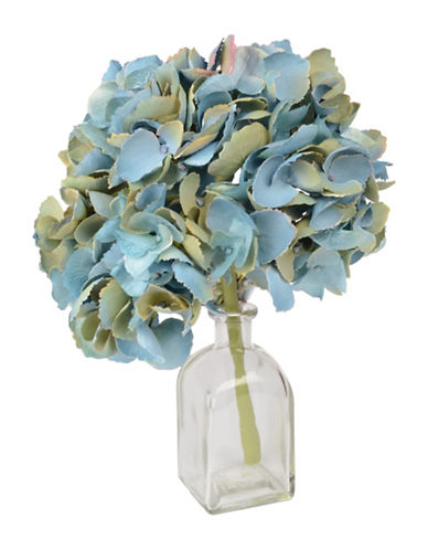 Winward Silks Short Stem Synthetic Hydrangea-BABY BLUE-One Size