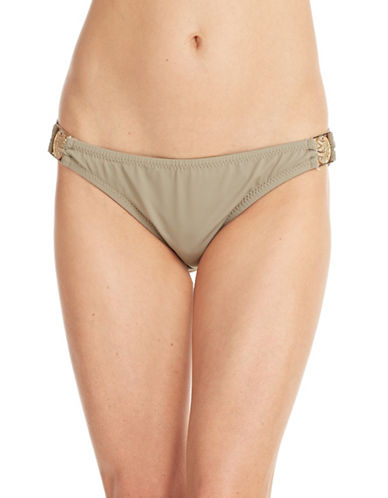 Trina Turk Side Buckle Hipster Swim Bottoms-BEIGE-10