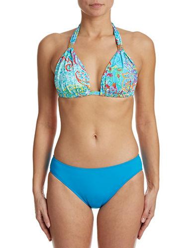 Lauren Ralph Lauren Maharaja Paisley Slider Swim Bra-BLUE-8