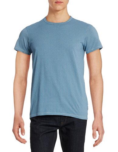 Ben Sherman Basketweave Print T-Shirt-BLUE-X-Large 88368742_BLUE_X-Large