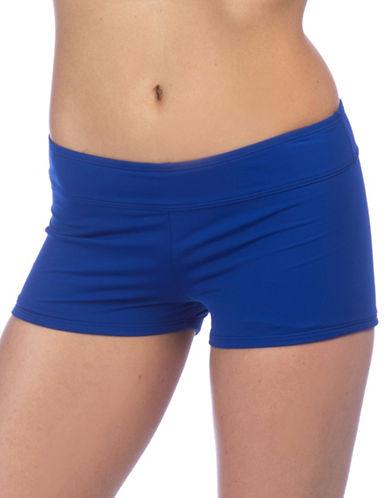 Lauren Ralph Lauren Solid Swim Boy Shorts-BLUE-16 88460003_BLUE_16