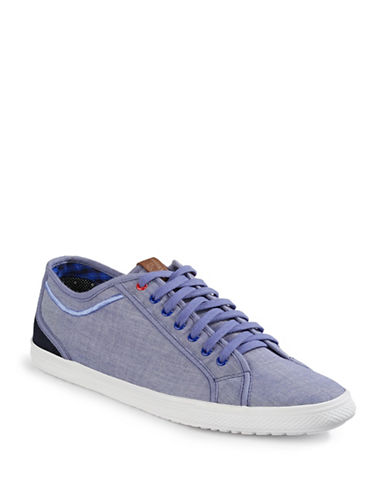 Ben Sherman Chandler Lo Canvas Sneakers-BLUE-12