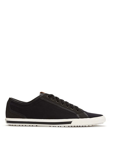 Ben Sherman Chandler Lo Canvas Sneakers-BLACK-9.5