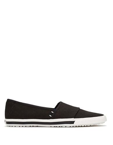 Ben Sherman Sporty Canvas Slip-On Shoes-BLACK-9.5