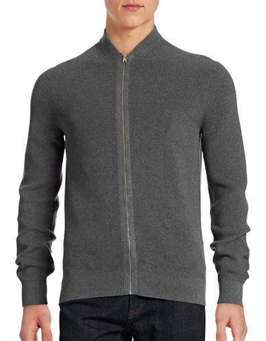 Ben Sherman Ribbed Zip-Up Sweater-CONCRETE-X-Large 88495857_CONCRETE_X-Large