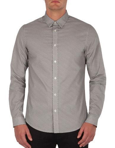 Ben Sherman Micro Geometric Pattern Shirt-BLACK-Large