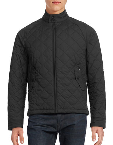 Ben Sherman Quilted Harrington Jacket-BLACK-Medium 88495863_BLACK_Medium