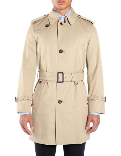 Aquascutum Corby Single Breasted Trench Coat-CAMEL-46
