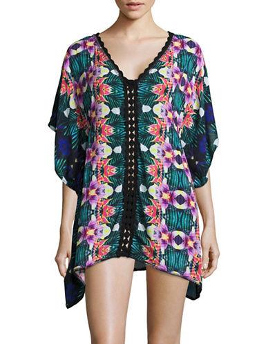 Nanette Lepore Habanera Cover-Up Caftan-MULTI-Small plus size,  plus size fashion plus size appare