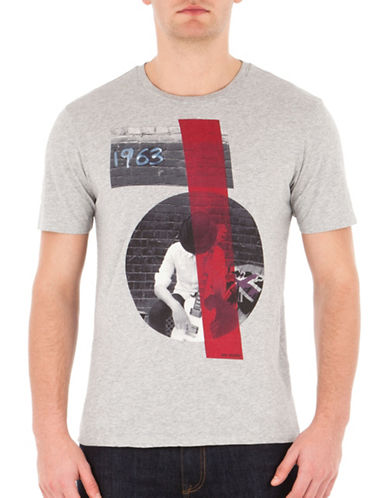 Ben Sherman Sixties Sharp Graphic Tee-GREY-Small 88835930_GREY_Small