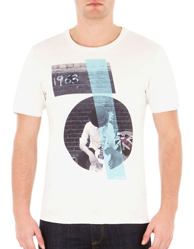 Ben Sherman Sixties Sharp Graphic Tee-WHITE-Large 88835936_WHITE_Large