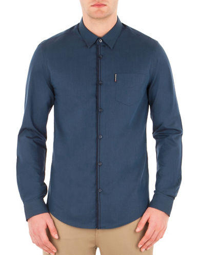 Ben Sherman Sixties Sharp Sport Shirt-BLUE-Large