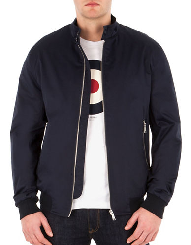 Ben Sherman Lux Harrington Jacket-BLUE-Large 88835948_BLUE_Large