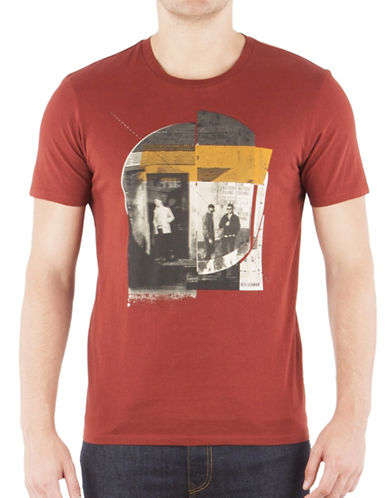 Ben Sherman Northern Soul Club T-Shirt-RUBY RED-Medium