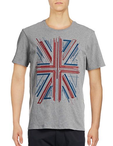 Ben Sherman Union Jack Graphic-GREY-Small
