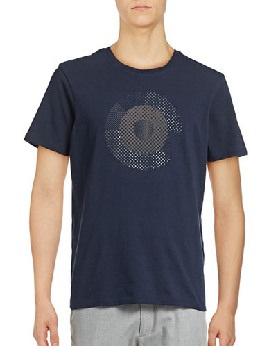 Ben Sherman Hero Pixelated Target T-Shirt-NAVY-Medium