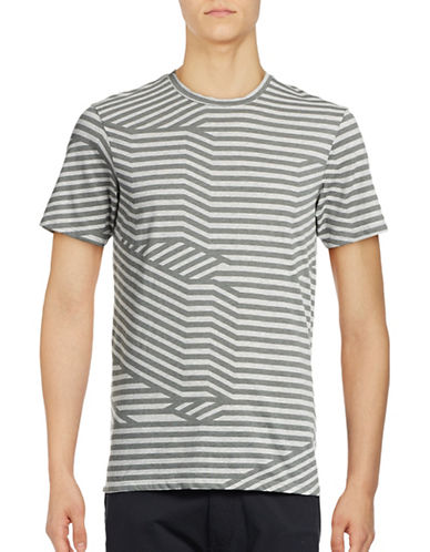 Ben Sherman Splice Graphic Stripe T-Shirt-NATURAL-Medium