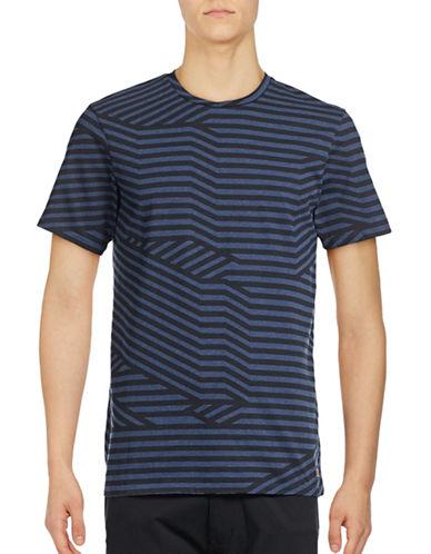 Ben Sherman Splice Graphic Stripe T-Shirt-BLUE-Medium 88928441_BLUE_Medium