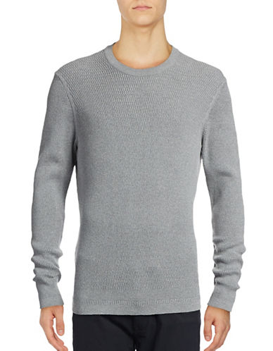 Ben Sherman Tonic Textured Crew Sweater-GREY-Medium