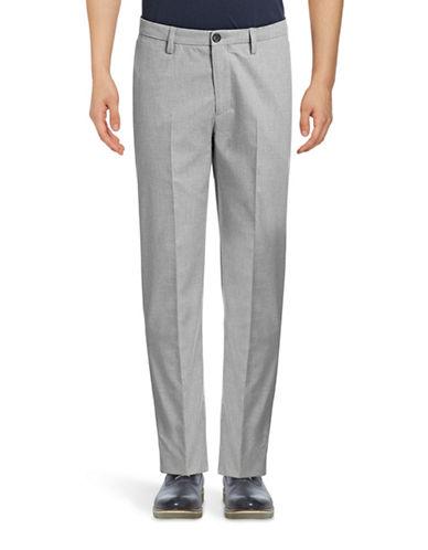 Ben Sherman Cotton Marl Trousers-GREY-36
