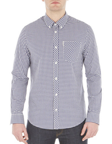 Ben Sherman Core Gingham Sport Shirt-BLUE-X-Large
