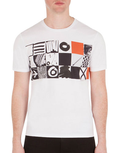 Ben Sherman Checkerboard Graphic T-Shirt-WHITE-X-Large 88974607_WHITE_X-Large