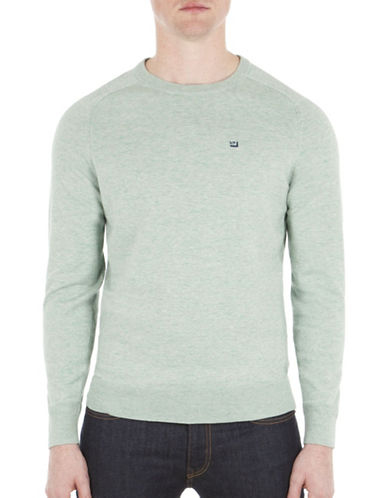 Ben Sherman Cotton Crew Neck Jumper-MINT-X-Large