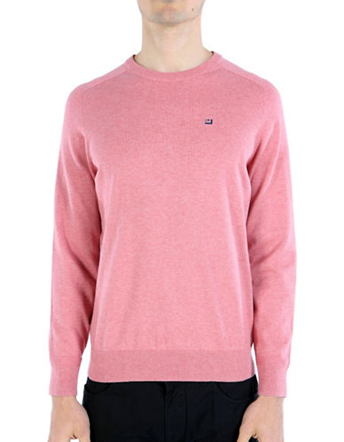 Ben Sherman Cotton Crew Neck Jumper-PINK-Large