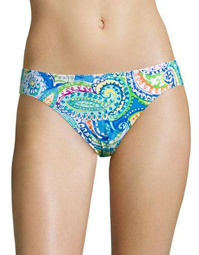 Lauren Ralph Lauren Carnivale Paisley Hipster Swim Bottom-BLUE-14