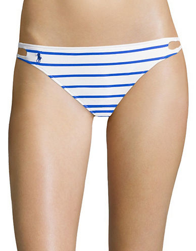Polo Ralph Lauren Side Lace Hipster Swim Bottoms-BLUE-Medium
