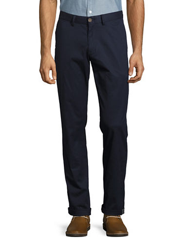 Ben Sherman Slim-Fit Stretch Chino Pants-NAVY-34